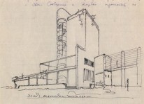 A. Vlasov. Supervisor N. Markovnikov. Palace of Labour. Sketches for the theatre and library. 1928 c