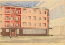 B. Nadezhin. Four-storey Residential Building. Mid-1930s