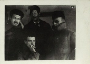М.М. Черемных, Маяковский, И.А. Малютин, Соколовский в РОСТА. Москва. 1919