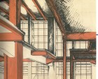 G. Barkhin. Izvestiya Newspaper Office and Printing Factory in Moscow. Sketches. 1925