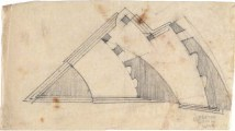 G. Gol'ts. N. Ladovsky's workshop Architectural and Spatial Design of the Entrance to the Nikitsky Boulevard in Moscow. Sketches. 1920-1921 b