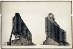 G. Vegman. N. Ladovsky's workshop Grain Elevator. Revelation and expression of form. 1922