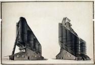 G. Vegman. N. Ladovsky's workshop Grain Elevator. Revelation and expression of form. 1922