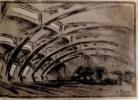 G. Vegman. Steam Locomotive Depot. 1922 a
