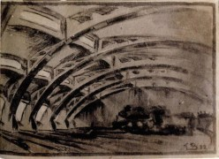 G. Vegman. Steam Locomotive Depot. 1922 a
