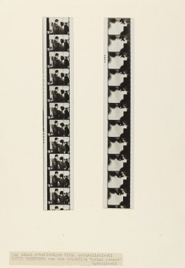 Hannes Meyer , Film (Maquette for Die neue Welt, with a filmstrip from Lotte Reiniger's Prinz Achmed [1926])