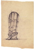 I. Lamtsov. IN. Ladovsky's workshop Double Volume. Revelation and expression of mass and weight. Sketches. 1922 a