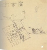 I. Nikolaev. Textile Institute Students Hostel in Moscow. Sketches. 1929 b