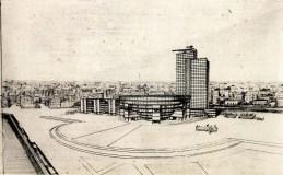 L. Komarova. N. Dokuchaev's workshop. Komintern Building. 1929. Photo