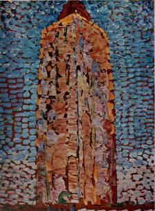 Lighthouse at Westkapelle c. 191 o, oil on cardboard, 15! × 11A in (39 × 29cm) G. J. Nieuwenhuizen Segaar Gallery, The Hague