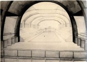 O. Ivanova. Swimming Pool. Exercise on the Expressiveness of Interior Space. 2nd year. 1927:1928. Photos 1