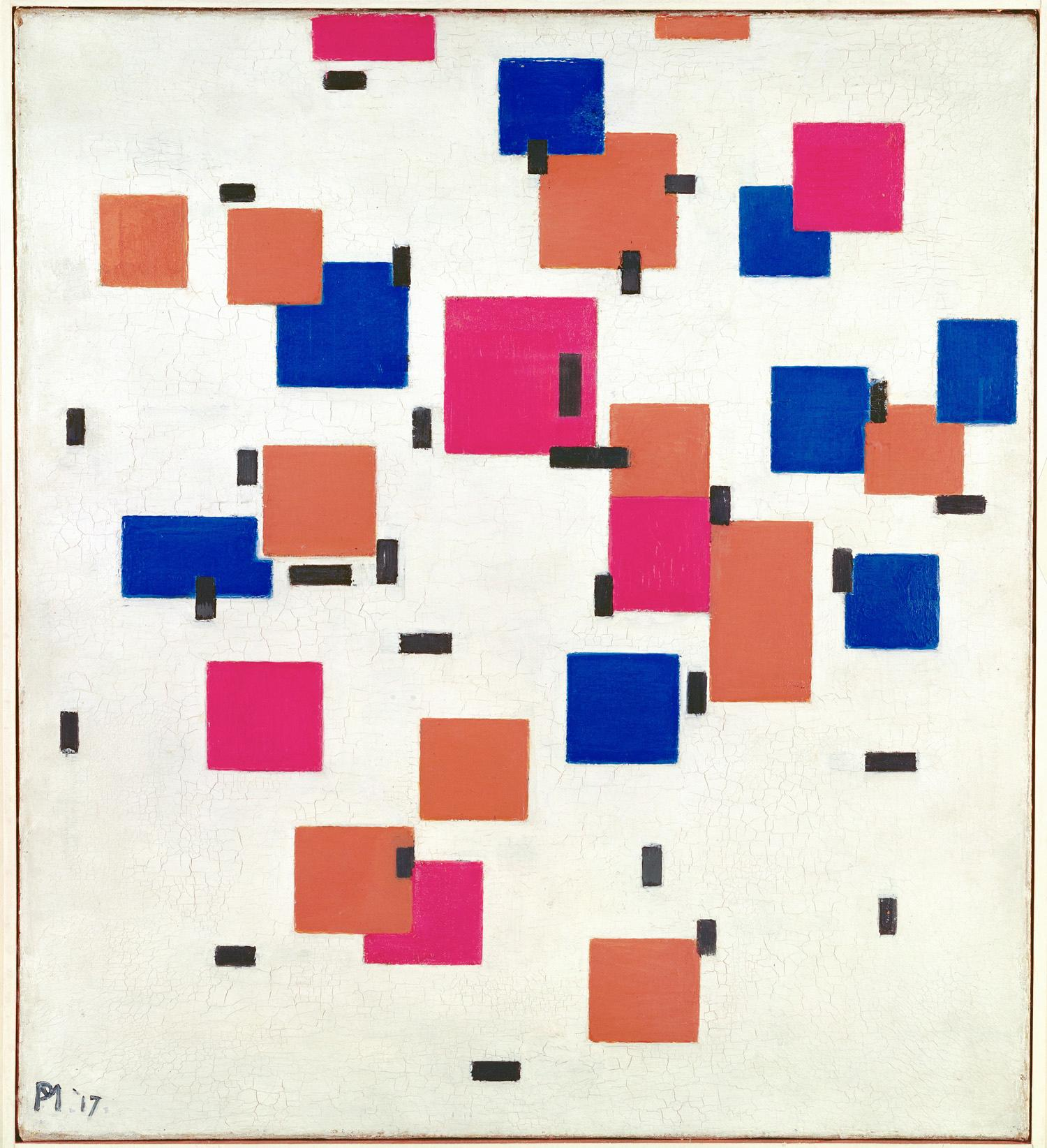 Piet Mondrian Title Composition in Color A Work Type painting Date 1917 Material oil on canvas Measurements 50.3 x 45.3 cm