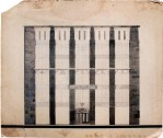 S. Chernyshev. Building for the ARKOS Joint-Stock Company in Moscow. Competition project. Sketch. 1924