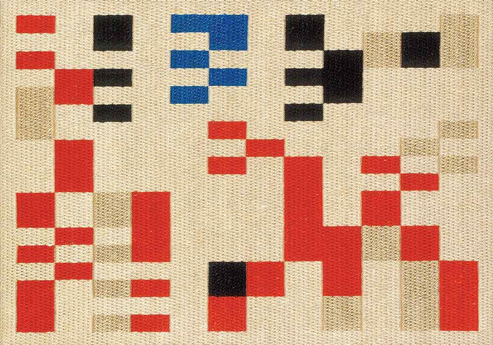 Sophie Taeuber Arp Vertical-Horizontal Composition, 1916, Wool embroidery, 50 × 38.5 cm | Textiles