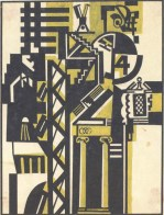 """V. Krinsky. Composition """"The Old and the New». Magazine illustration. 1920s"""