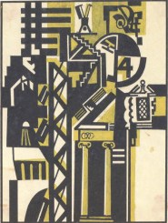 "V. Krinsky. Composition ""The Old and the New». Magazine illustration. 1920s"