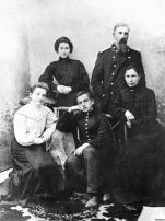 Vladimir Mayakovsky (center) with his family in 1905