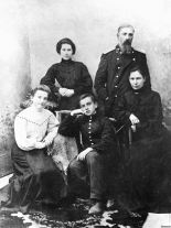 Vladimir Mayakovsky (center) with his family in 1905