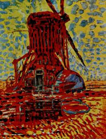 Windmill in the Sun probably 1911, oil on canvas, 44 × 343 m (114X 87 cm) Gemeentemuseum, The Hague, Slijper loan