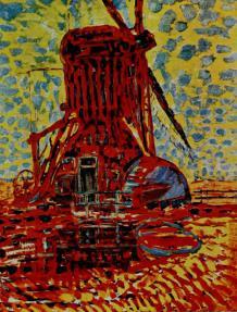 Windmill in the Sun probably 1911, oil on canvas, 44 × 343 m (114X 87 cm) Gemeentemuseum, The Hague, Slijper loan