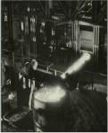 """Margaret Bourke-White, Molten steel filling up huge cauldren at the """"Red October"""" Rolling Mills (Stalingrad, 1931)"""