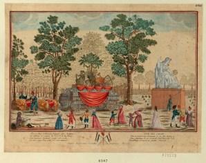 Vüe du char Qui a servi à la Cérémonie de la fête dédiée à l'etre suprême le 20 prairial l'an Deuxième de la République et exposé au jardin National - [estampe] _ [non identifié]