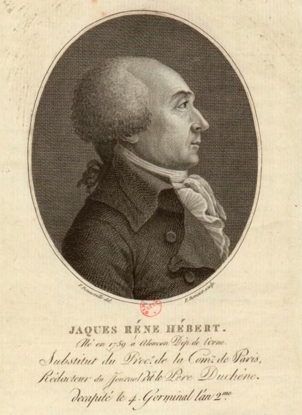 Jaques René Hébert - né en 1759 à Alençon dép. de l'Orne, substitut du proc.r de la com.ne de Paris... - [estampe] _ F. Bonneville del. ; E. Bovinet sculp 1