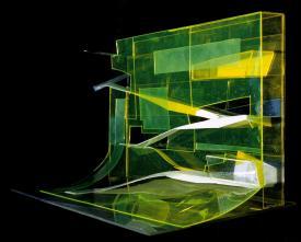 Hadid, Zaha Title Rosenthal Center for contemporary Art Date 2003 Location Cincinnati, Ohio, United States Description urban carpet study model