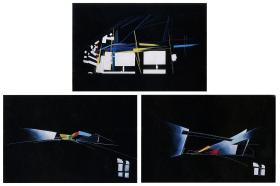 Hadid, Zaha Title Vitra Fire Station Date 1994 Location Weil am Rhein, Baden-Wurttemberg, Germany Description Sequence of views through corridor space 1