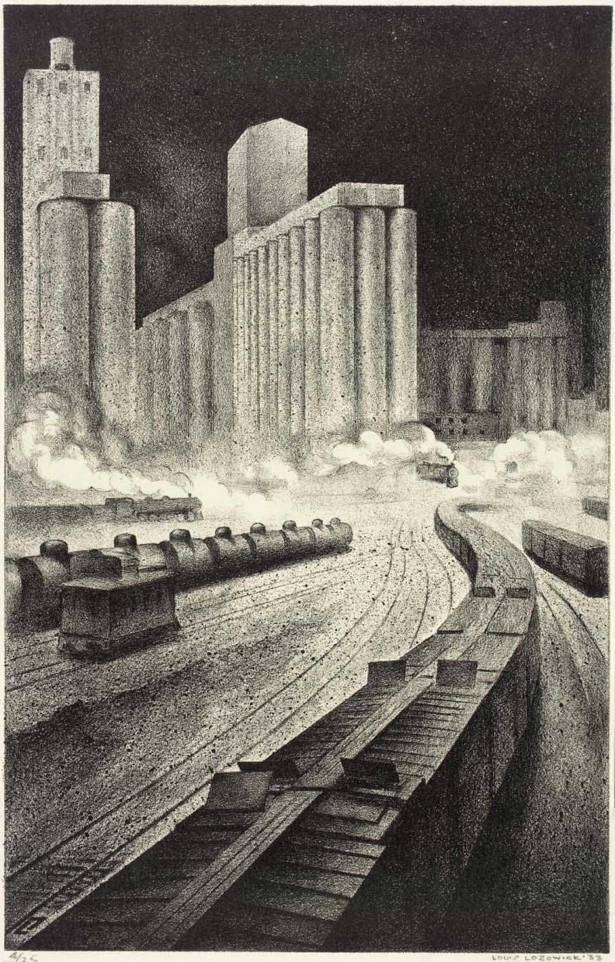 Louis Lozowick, Granaries to Babylon (1933)