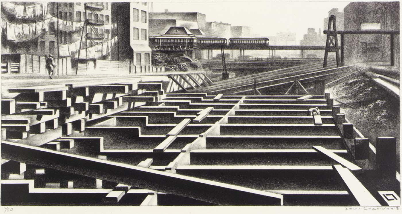 Louis Lozowick, Subway Construction (1931)