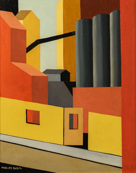 Miklos Suba 'Industrial Scene' ca. 1930