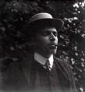 Hendrik de Man met sigaar en hoed. Jaren 1900
