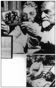 Brain-scientist couple, Cecile and Oscar Vogt, who made 10,000 cross-section slides of the brain of Lenin, pictured below with his wife Krupskaia after he became ill