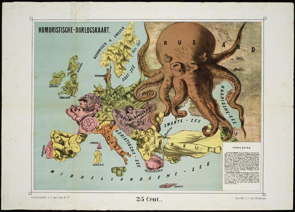 Humoristische Karte Von Europa 1914.Cartoon Maps Portraying Impending Inter Imperialist
