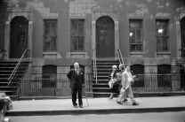 Subject: Architect Mies Vander Rohe standing on the street. New York, NY July 1956 Photographer- Frank Scherschel Time Inc Owned Merlin-1153284