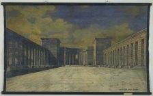 ludwig-mies-van-der-rohe-bismarck-monument-project-bingen-germany-perspective-view-of-courtyard-1910