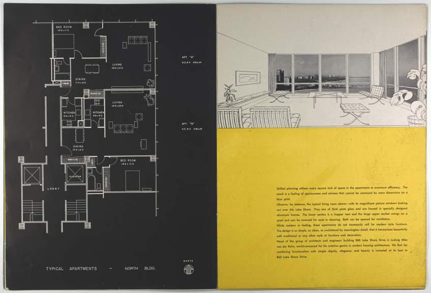Ludwig Mies Van Der Rohe Brochure For 860880 Lake Shore Drive