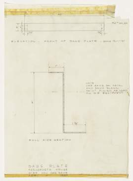 ludwig-mies-van-der-rohe-farnsworth-house-plano-illinois-base-plate-section-elevation-1950