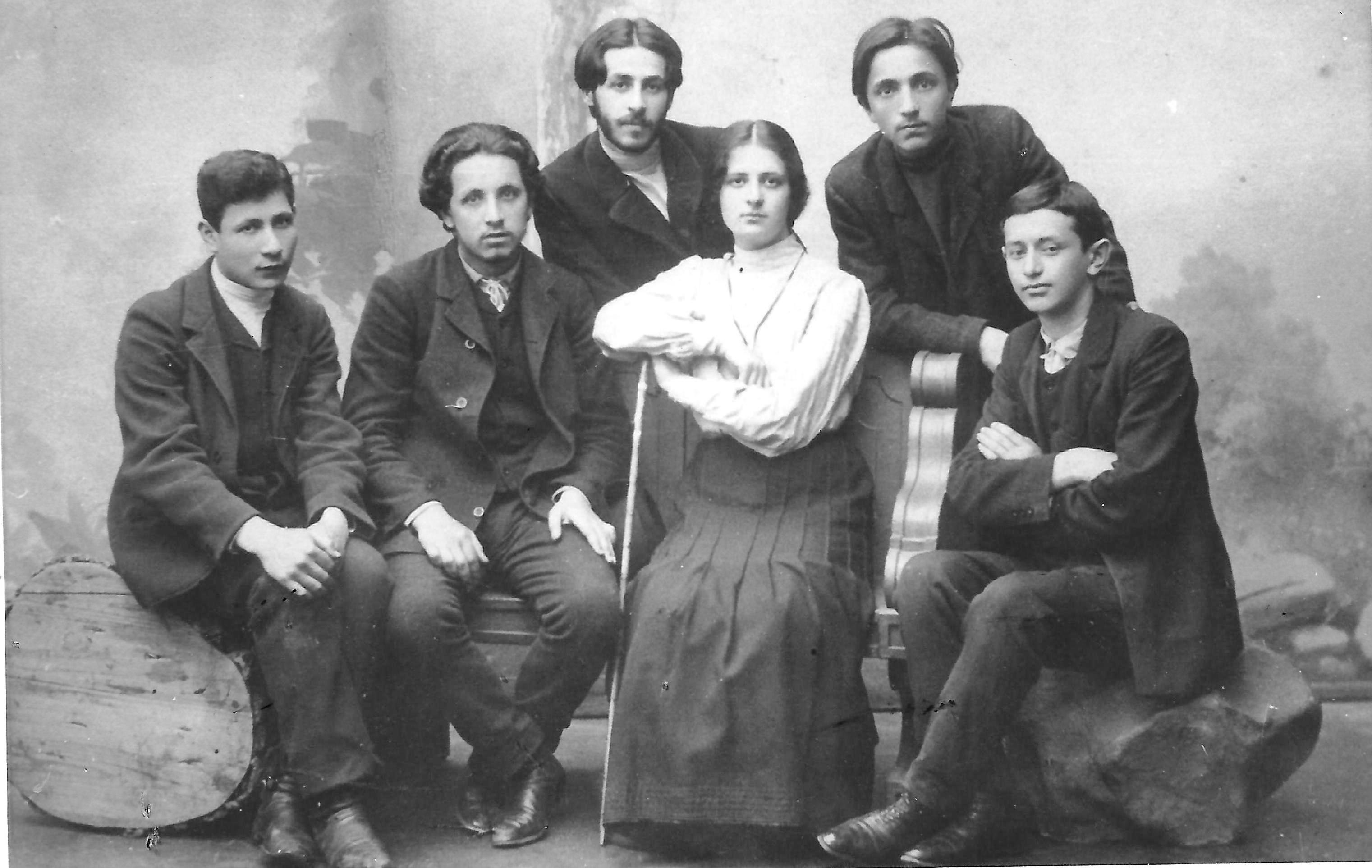 A group of Poalei Zion from Warsaw, 1905
