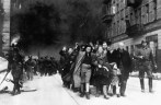 Jewish civilians. Copy of German photograph taken during the destruction of the Warsaw Ghetto, Poland, 1943. (WWII War Crimes Records) Exact Date Shot Unknown NARA FILE #: 238-NT-282 WAR & CONFLICT BOOK #: 1280