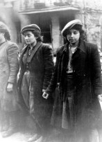 Women prisoners. Copy of German photograph taken during the destruction of the Warsaw Ghetto, Poland, 1943. (WWII War Crimes Records) Exact Date Shot Unknown NARA FILE #: 238-NT-281 WAR & CONFLICT BOOK #: 1277