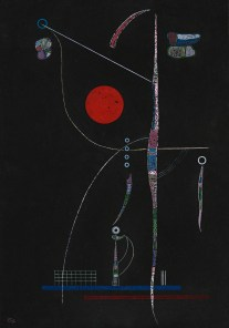 Wassily Kandinsky, L'accent rouge (April 1938)