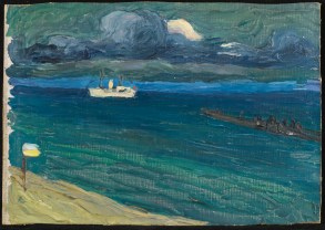 Wassily Kandinsky, Rapallo, Seascape with Steamer (1906)