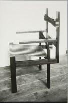 Lucia Moholy, Designer- Marcel Breuer Wooden-Slat Armchair (1922) a