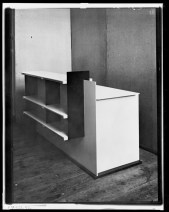 probably Lucia Moholy, Furniture by Marcel Breuer Plywood Desk (Rear Side, 1924)