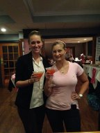 General Manager, Natalie, and our amazing Stella & Dot Stylist, Christine Dobmeier, decked out in jewels and sipping Breast Support signature cocktails