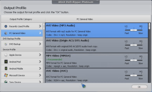 WinX DVD Output Profile