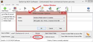 switch sound file converter outputoption