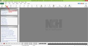 wavepad sound editor open file
